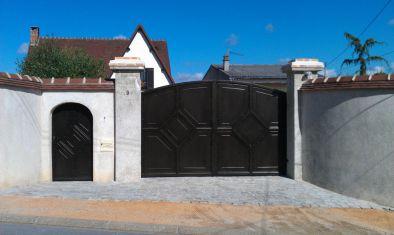Decoration portail exterieur agrable cout d une de maison for Portail fer forge tunisie